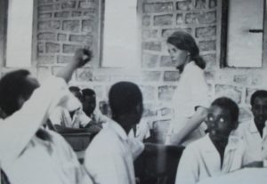 MaryAnn Shank with students in Somalia